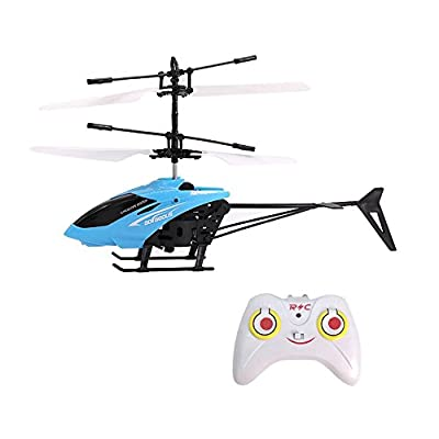 Mini Flying RC Helicopter, Rcool Creative Hand Suspension RC Helicopter Aircraft Infrared Sensing Induction Flying Drone Toy with Colorful LED Lighting Flashing & Remote Control for Kids and Adults