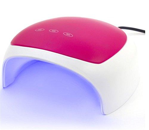Sun Nail Machine Led cuentas de la lámpara Sincronización Secadora 24w Completamente automatico Gel de curado Secado rápido Máquina de terapia de luz casera,Rose