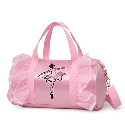 Unbekannt per Ballett Prinzessin Dance Bag Cross-Body Taschen Schultertasche für Ballerina Tänzer Mädchen-Pink