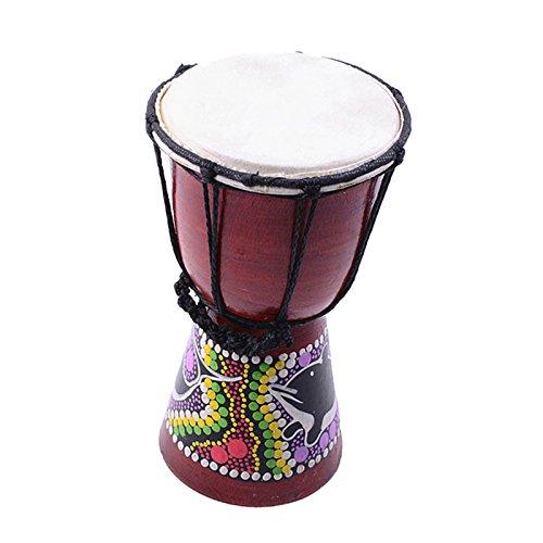 perfk Holz Mini Djembe Hand Schlag Spielzeug Afrikanische Trommel Hand Trommel Tanz Trommel - Afrikanische Kirsche