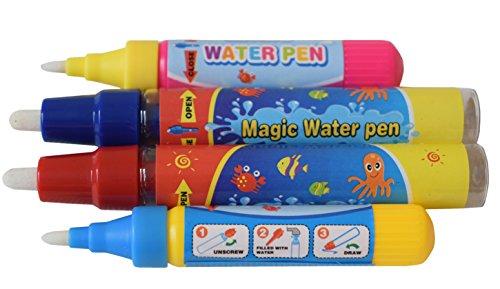 4 x Rangebow Aqua Water Doodle Ersatz Stifte 2 x groß 2 klein für alle Aqua-Zeichnung-Matten Zeichnung Malerei Bretter Wasser Zeichnung Doodle Magic Four Pens für 3 Jahre plus (Stift-ersatz)