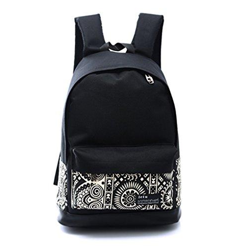 lufa-canvas-backpack-sac-dos-lger-mignon-pour-ados-jeunes-filles-noir-blanc183045cm