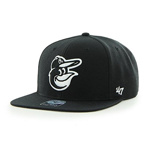 '47 Brand Unisex Baseball Cap Schwarz - Schwarz (Schwarz/Weiß)