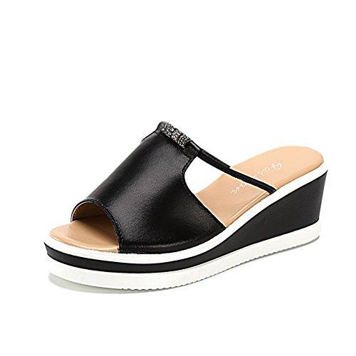 Pendii e pantofole di cuoio di estate/Esterno che indossa un fondo di spessore pantofole B