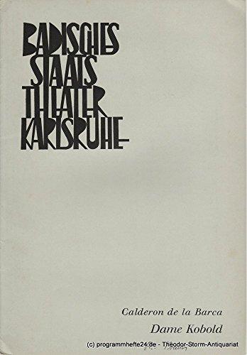 Programmheft Neuinszenierung Dame Kobold. Lustspiel von Pedro Calderon de la Barca Spielzeit 1968 / 69 Heft 3 (Pedro Kostüme)