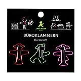 AMPELMANN Bürokraft - Büroklammer - 18 Stück - Geher, Steher, Ampelfrau