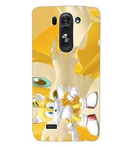 ColourCraft Cute Cartoon Cat Design Back Case Cover for LG G3 S