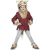 confettery–joven temática de fiesta Halloween carnaval Disfraz Wolf, hombre lobo, 116–164, 6–14años, multicolor