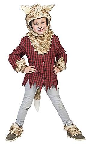 Halloweenia - Jungen Motto-Party Halloween Karneval Kostüm Wolf, Werwolf, 116, 6 Jahre, Mehrfarbig (Kind Cat Girl Kostüm)