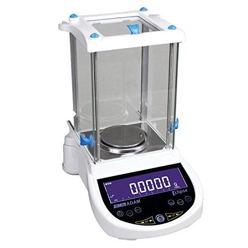 AE ADAM EBL 254i Adam Equipment Analysewaage mit interner Kalibrierung und Touch-Kapazitätstaste, Aluminium, 250 g x 0,0001 g