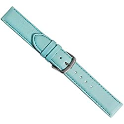 Beach Replacement Band Watch Band Leather Kalf turquoise 20450S, width:24mm