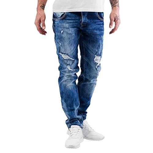 2Y Homme Jeans / Jeans Straight Fit Peyton Bleu