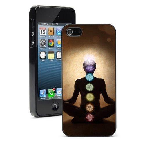 Colore rosa e Ladoo? Per Apple iPhone 4 4S rigida di custodia Yoga Lotus posa con simboli chakra