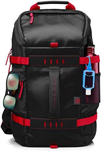 HP Odyssey Rucksack (39,62 cm / 15,6 Zoll) für Notebooks, Laptops, Tablets in rot/schwarz