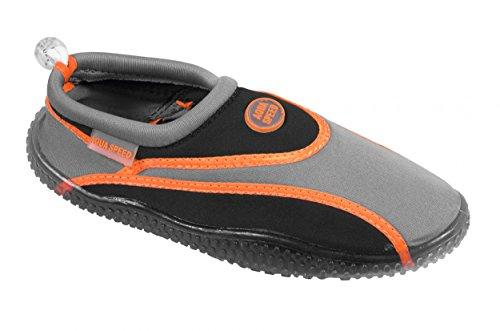 AQUA-SPEED® AQUA-SCHUHE 1A (35-45 Unisex Profilsohle Schwimmen Tauchen Pool Baden Kajak), Schuhgröße:43