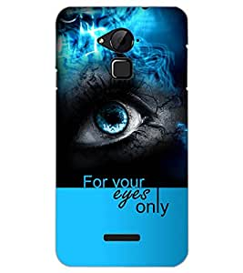 PrintDhaba FOR YOUR EYES ONLY D-6957 Back Case Cover for COOLPAD NOTE 3 LITE (Multi-Coloured)