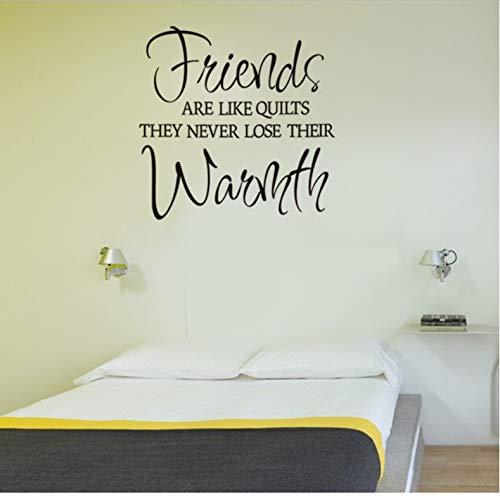 Freunde sind wie Quilt Vinyl Wand Aufkleber Zitate Wohnkultur Wohnzimmer Schlafzimmer diy Kunst Tapete abnehmbare Wandaufkleber -
