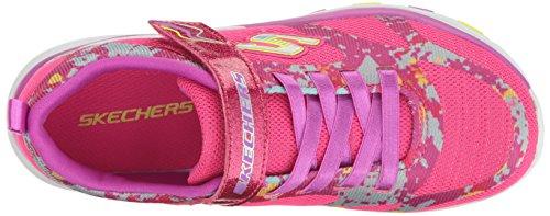 Rosa Lite Trainer brillante Bambini Neon Sneaker Skechers Corridore Viola T4wgv0q