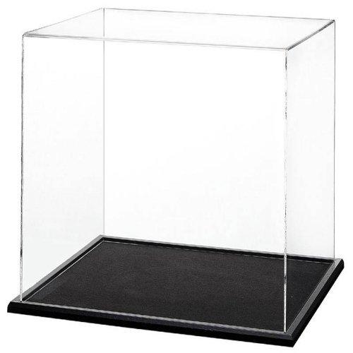 Widdowsons 300mm vitrine de cube un socle en bois noir
