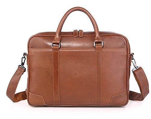 Everdoss Business Aktentasche Herren Laptoptasche Schultertasche Arbeitstasche Umhängetasche Vintage Schwarz Braun