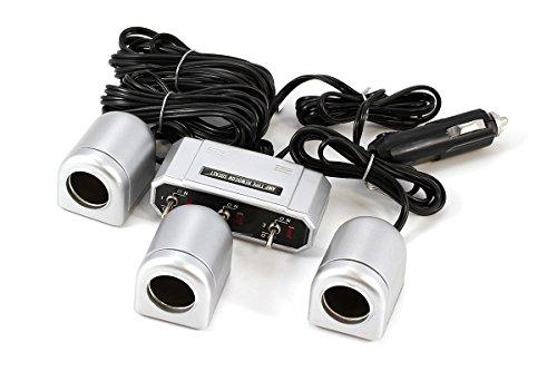 Preisvergleich Produktbild All Ride Steckdose 3-fach mit Schalter 1-3m Kabel 12 / 24V