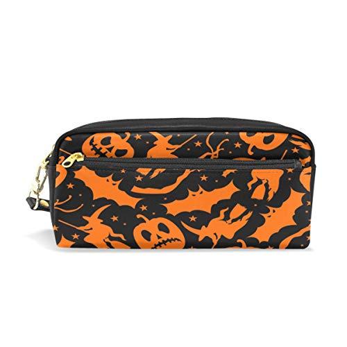 Stift Fall stationäre nahtlose Muster Halloween Bleistift Taschen tragbare Tasche für Schule Kinder Kinder Kosmetiktasche Make-up Beauty Case (Halloween Taschen Muster)