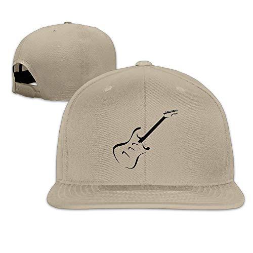 Electric Guitar Baseball Hats Women Men Flat Billed Adjustable Fashion Hip-Hop Hat -