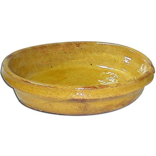 Plat à gratin en terre cuite 3 parts jaune NOT