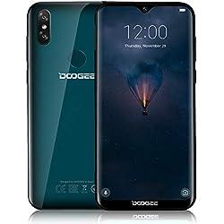 DOOGEE Y8-2019 Telephone Portable Debloqué Pas Cher 4G Android 9.0, Smartphone Écran 6.1 Pouces 19.9 HD+, MTK6739 1.5GHz, 3GB+16GB, Double 8+5MP Appareil Photo, Dual SIM, FaceID Fingerprint-Vert