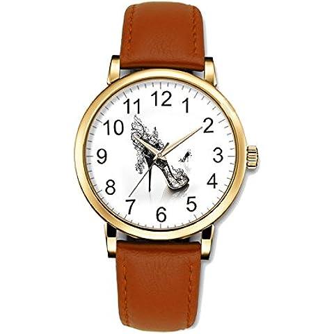 teeu Business Casual orologio da donna al quarzo design speciale con scarpe con tacco alto e struttura unica, un popolare orologio, regalo di natale - Elegante Movimento Al Quarzo Guarda