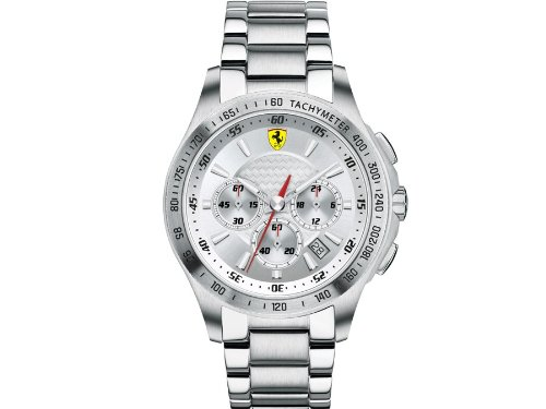 Scuderia Ferrari Gents SF105 Stainless Steel Chronograph Watch 0830047