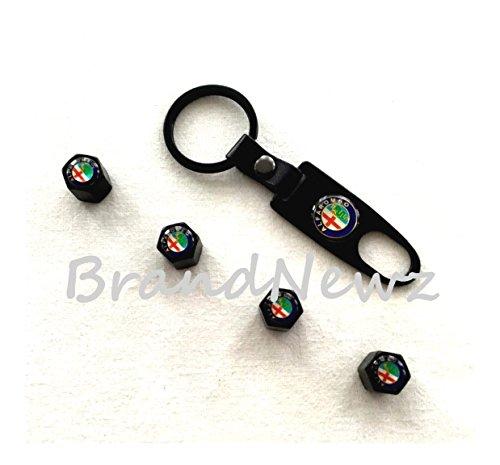 alfa-romeo-black-alloy-car-wheel-tyre-valve-dust-caps-covers-spanner-keyring-set-of-4