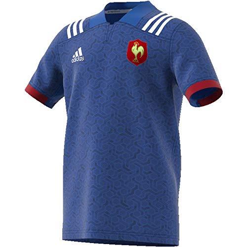 Adidas giocatore francesa maglia, bambini, bambino, br3352, blu/bianco (rojpot), 128-7/8 años