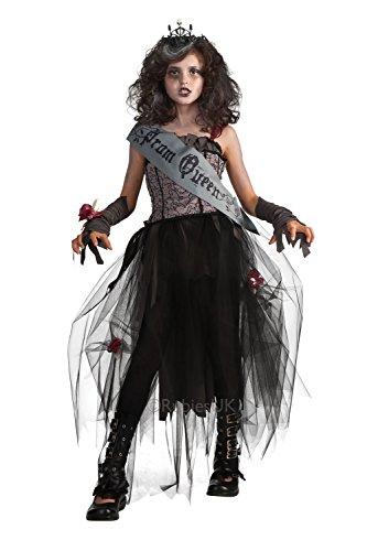 Mädchen Zombie Gothic Ballkönigin Kostüm Medium 5-7 ()