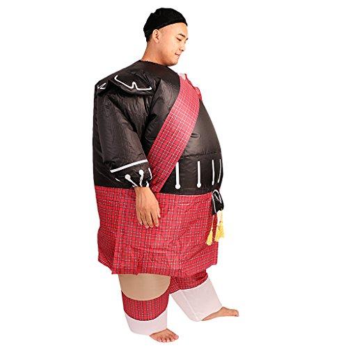MagiDeal Aufblasbares Erwachsenenkostüm Fett Krieger Ninja Ganzkörper Kostüm Abendkleid ()