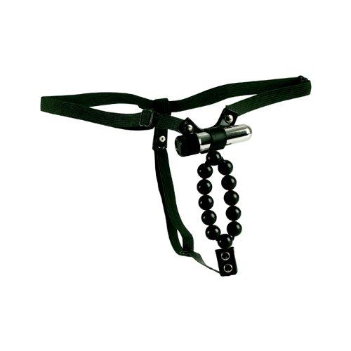 Vibrating Lover's Tanga  With Stroker Beads - Tanga Vibrator