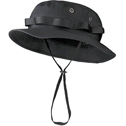 FREE SOLDIER Outdoor Unisex Sun Schutz Abgerundete Hüte Camping Wandern Angeln Radfahren Reisen Mützen (schwarz)