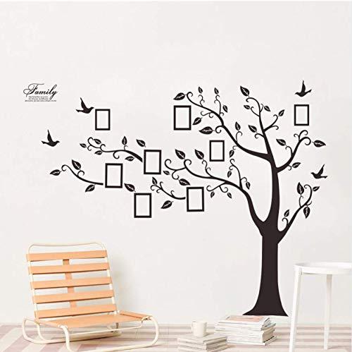 Wanddeko Kinderschwarzer Fotorahmen Baum Wandaufkleber Wohnzimmer Schlafzimmer Kinderzimmer Wand Art Deco Wandtattoo (172 Cm * 219 Cm)