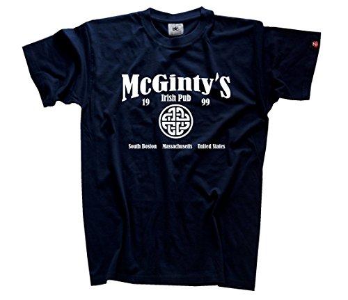 Veritas Aequitas - McGinty s Irish Pub T-Shirt Navy L