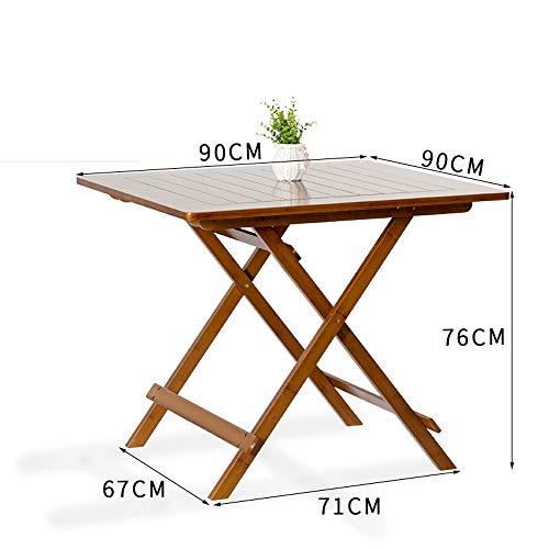 Alppq Freizeittisch Klapptisch Tragbarer Kleiner Tisch Moderne Einfachheit Quadratischer Tisch Brauner Esstisch Persönlicher Klapptisch Bankett-Klapptisch Duty Klapptisch Mehrzweck-Klapptisch