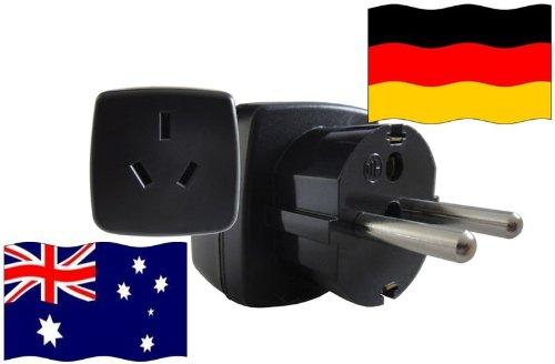 Preisvergleich Produktbild Urlaubs-Reisestecker mit Schutzkontakt für Deutschland 250 Volt Australien Reiseadapter