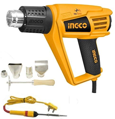 Tools Centre Ingco 2000w Professional Heat Gun/Hot Air Gun With Soft Grip Handle. & Free Soldering Iron -