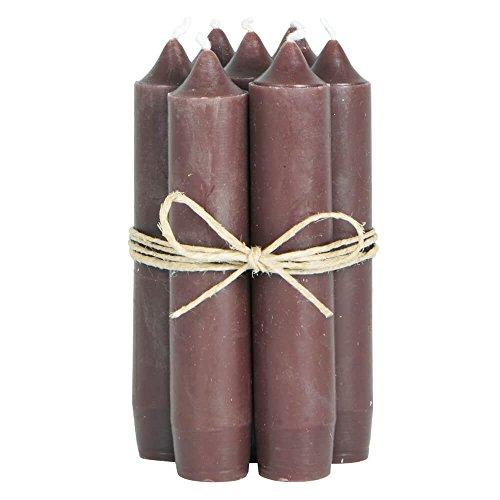 Preisvergleich Produktbild Ib Laursen Stabkerzen Set klein braun (8 Stück),  für Feier / Haushalt / Dekoration