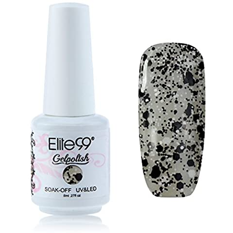Elite99 Vernis A Ongles Semi-Permanent Soak Off Gel UV Led Base Top Nail Art Manucure 8ml 1862