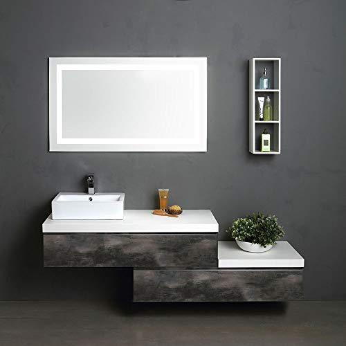 Mobile Bagno Lavabo Decentrato.Lavabo Bagno In Vetro Mobile Bagno Asia3 110 Cm Con Lavabo In