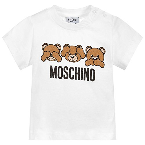 Moschino t-shirt bianca con orsacchiotti 12m