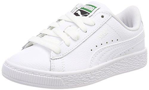 Puma Unisex-Kinder Basket Classic LFS PS Sneaker, Weiß White 4, 32 EU -