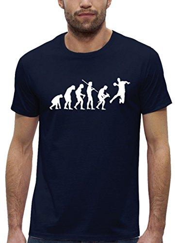 Handballer EM WM Premium Herren T-Shirt aus Bio Baumwolle EVOLUTION HANDBALL Stanley Stella Navy