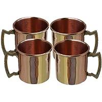 BARREL CRAFTS Taza de latón con capacidad de 2 onzas de cobre macizo clásico Moscow Mule