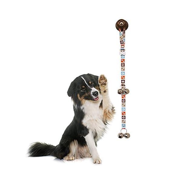 PoochieBells Dog Doorbells, Bone Appetite Brown_desther 6